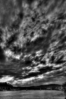 01 Clouds over 27- HDR Tonemapped BW