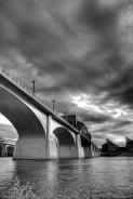 09 Bridge and Partial Aquarium - HDR tonemapped BW