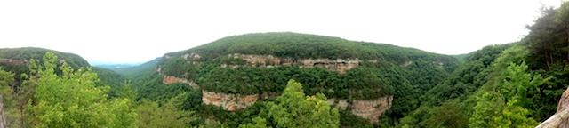 Views of a canyon