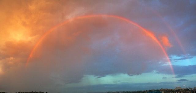 A giant double rainbow