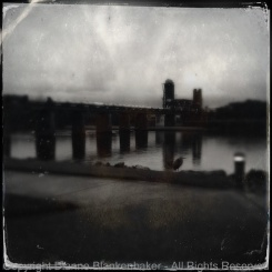 Tinto 885 lens with D-Type film - but can you see the heron?