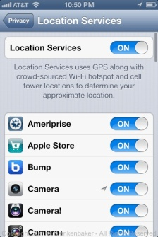 Location Services can be turned off