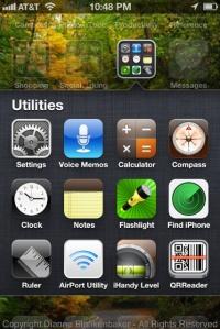 The settings app icon looks like a gray gear