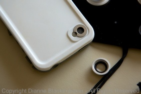 The ring adhered to the back of the phone is specially shaped for the iPhone lens