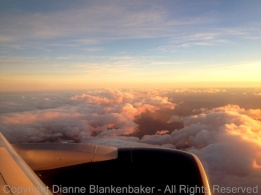 Who hasn't seen great clouds from a plane window? Sunrise over Madrid--iPhone 4S.