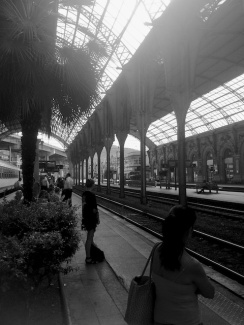 While waiting for a train in Nice, I grabbed this shot with my iPhone 4S.