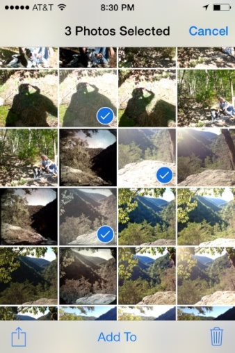 iOS7 - Selected photos