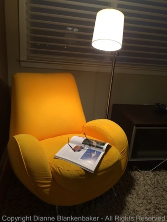 Story of a missing person who has left their comfortable reading chair briefly
