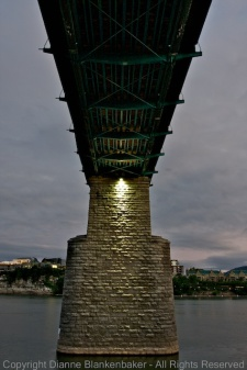 Underside of bridge