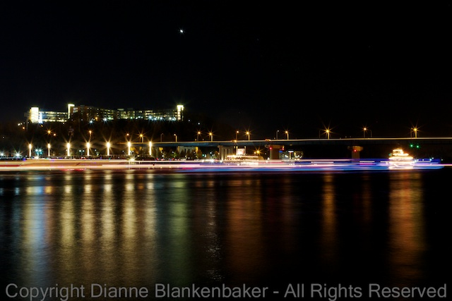 30 second exposure of distant boats circling