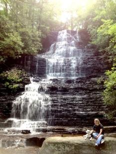 Big waterfall or small dog?