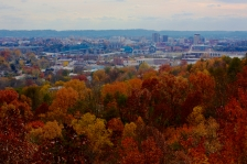 View of Chattanooga from Stringer's ridge in the fall