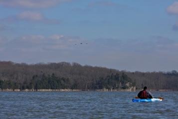 During Kayaking tour of Hiwassee Reserve