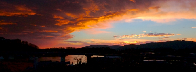Sunset over 27 and the Tennessee River